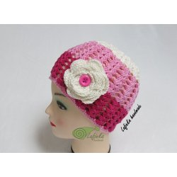 Three shades cap with Flower
